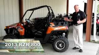 10. 2013 Polaris RZR 800 Nuclear Sunset  LE