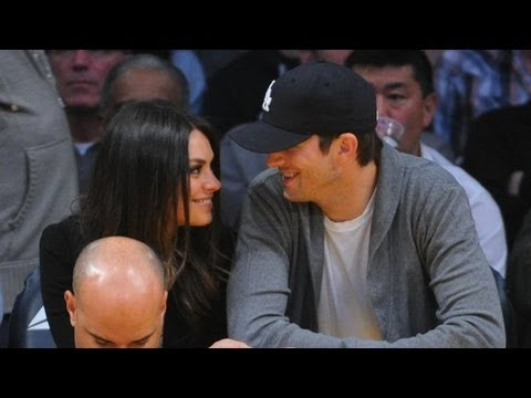 kutcher - Mila stopped by The Ellen DeGeneres Show, where she ended up giggling about Ashton Kutcher, and last night Mila and Ashton watched Will Ferrell ham it up in ...
