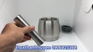 Cối inox 304 siêu to bự nặng 2,5kg cao cấp nhất hệ 304