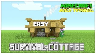 Minecraft: How To Build A Small Survival House Tutorial (Easy survival Shack ) (Cottage) 2016