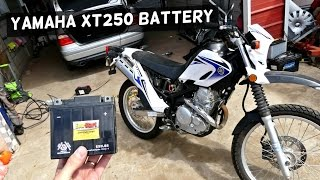 10. YAMAHA XT250 BATTERY REPLACEMENT REMOVAL XT 250