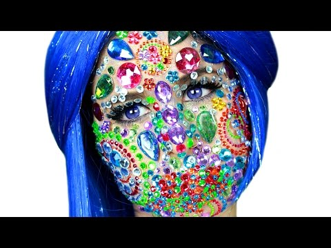 Full Face Using ONLY Jewels, Gems And Rhinestones!