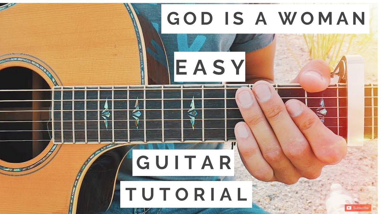 God Is A Woman Ariana Grande Guitar Tutorial // God Is A Woman Guitar // Guitar Lesson #526