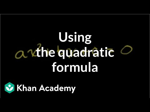 Worked Example Quadratic Formula Algebra Video Khan Academy