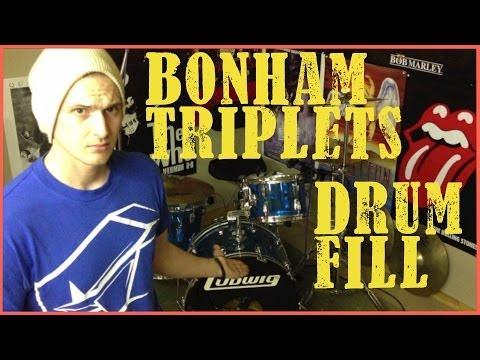 Bonham Triplets & Crossover Drum Fill - Drum Lesson #130