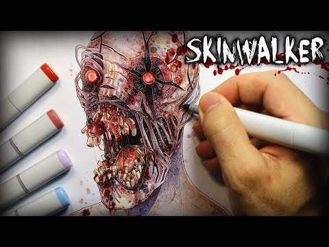 """Skinwalker"" (The Rake) Horror Story - Creepypasta + Drawing"