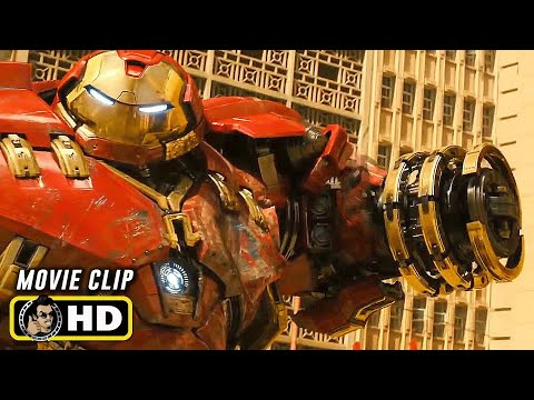 AVENGERS: AGE OF ULTRON (2015) Hulk Vs. Hulkbuster Fight [HD] Marvel