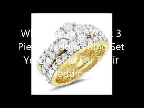 Who Does Not Want 3 Piece Wedding Ring Set Yellow Gold For Their Wedding