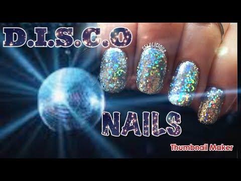 Gel nails - Disco Ball Nail Art