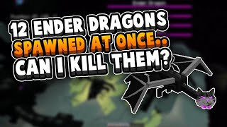 *12* Enderdragons Spawned Into My End - I Fought back...