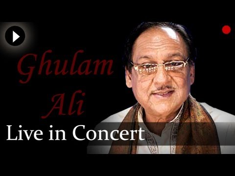 ghazal - Watch the beautiful Ghazal collection of Ghulam Ali at his live concert. Ustad Ghulam Ali is a Pakistani ghazal singer of the Patiala Gharana. For Daily Upda...