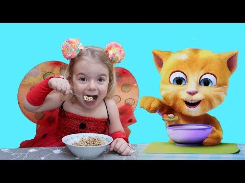 Anabella si PISICA VESELA   Anabella and  FUNNY talking CAT   Video for KIDS