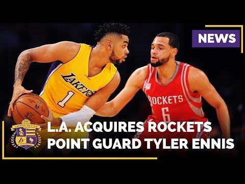 Video: Lakers Trade Marcelo Huertas For Houston Rockets Tyler Ennis