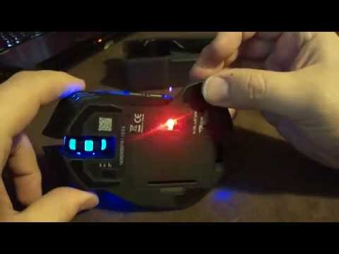 E-3lue E-Blue Mazer II 2500 DPI Blue LED 2.4GHz Wireless Optical Gaming Mouse Unboxing and review