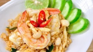 [Thai Food] Tom Yum Seafood Fried Rice (Kao Glong Long Ta Lay)