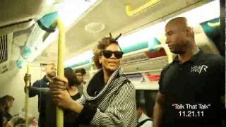 Rihanna Rides Subway to London Show