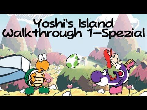 Super Mario World 2: Yoshi's Island Walkthrough Welt 1-Spezial (Bello Magma) (видео)