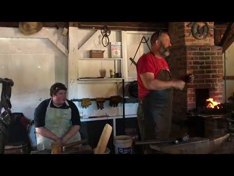 Master Blacksmith Joel at the Fryeburg fair 2017..Unedited Part 1 of three