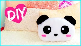 DIY ROOM DECOR! Cute panda pillow (Sew/no sew) | Lovely gift idea! - YouTube