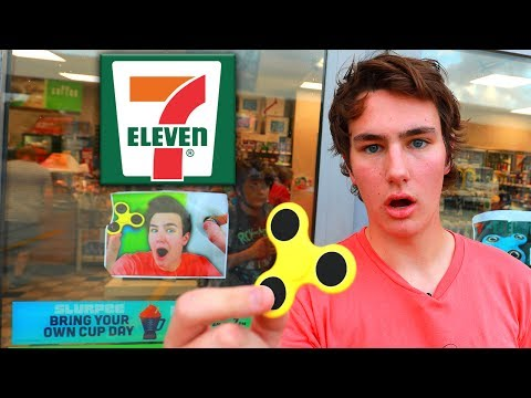 7-Eleven STOLE TechSmartt's Fidget Spinner Video (видео)