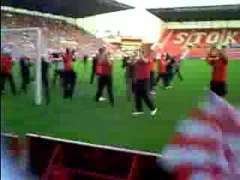 Desfile de Promoción del Stoke City en el Britannia Stadium