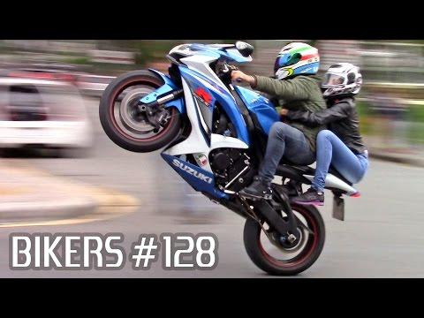 SUZUKI, BMW, HONDA & YAMAHA SUPERBIKES WHEELIES, BURNOUTS & more! - BIKERS #128