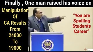 Video CA Results Manipulation || one man raised his voice against ICAI || ICAI Exposed MP3, 3GP, MP4, WEBM, AVI, FLV Desember 2018