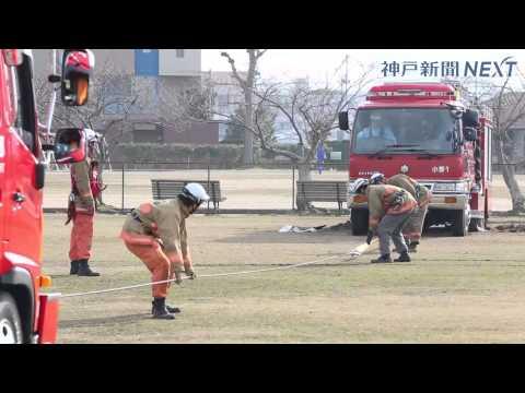消防車が立ち往生 小野市