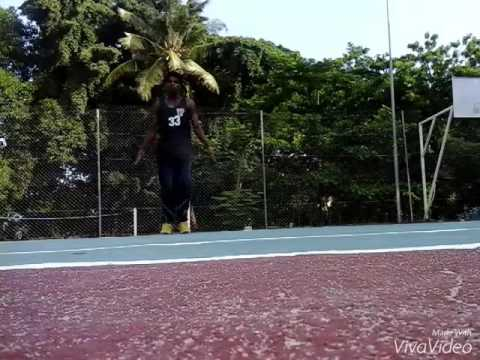 Fitness workout with foot works bboy is my game