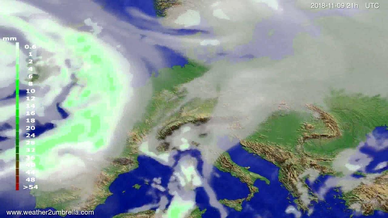 Precipitation forecast Europe 2018-11-06