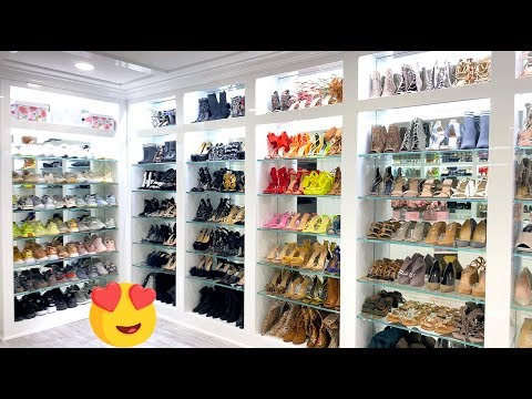 MY NEW BEAUTY ROOM / SHOE CLOSET TOUR 2019! Carli Bybel