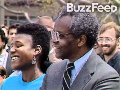 Obama protesta em Harvard 1991