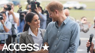 Prince Harry Makes Meghan Markle Crack Up By Hilariously Swatting Some Flies Away! | Access