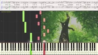 Дерева вы мои, дерева - Евгений Бачурин (Ноты и Видеоурок для фортепиано) (piano cover)