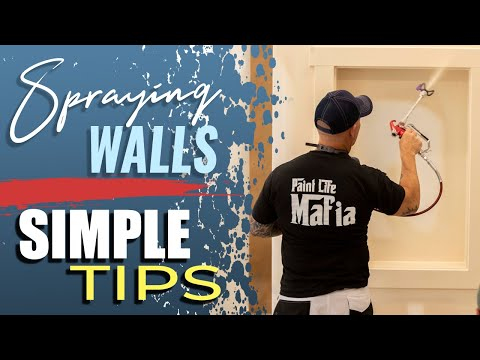 airless spray - How to spray interior walls with an airless sprayer. A good technique for painting walls fast. B&K Painting offers high quality painting at affordable prices...