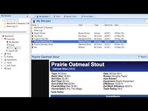 BeerSmith 2 Home Brewing Software Overview