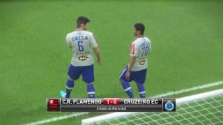 Cruzeiro jogou na retranca ! Mais o time cresceu no jogo e tem boa vantagem ! Flamengo Pes 2017 Master Liga Pes 2017...