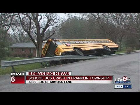 School bus crashes in Franklin Township