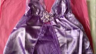 SEXY SATIN Babydoll PURPLE Lingerie