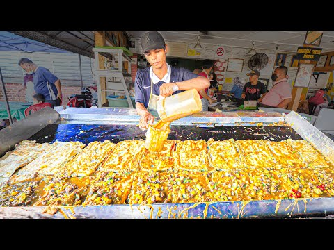 EXTREME Street Food in MALAYSIA!!! BIGGEST OMELETTE MASTER (100 Eggs) + BEST Street Food of Malaysia