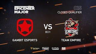 Gambit Esports vs Team Empire, EPICENTER Major 2019 CIS Closed Quals , bo1 [Lex & 4ce]
