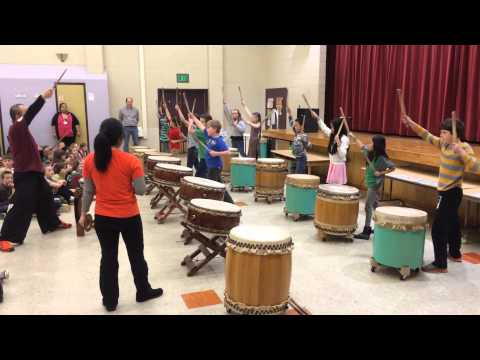Day Four of Our Taiko Drum Residency- Putting It All Together!