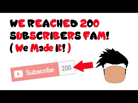 Video We Reached 200 Subs FAM!!! :) download in MP3, 3GP, MP4, WEBM, AVI, FLV January 2017