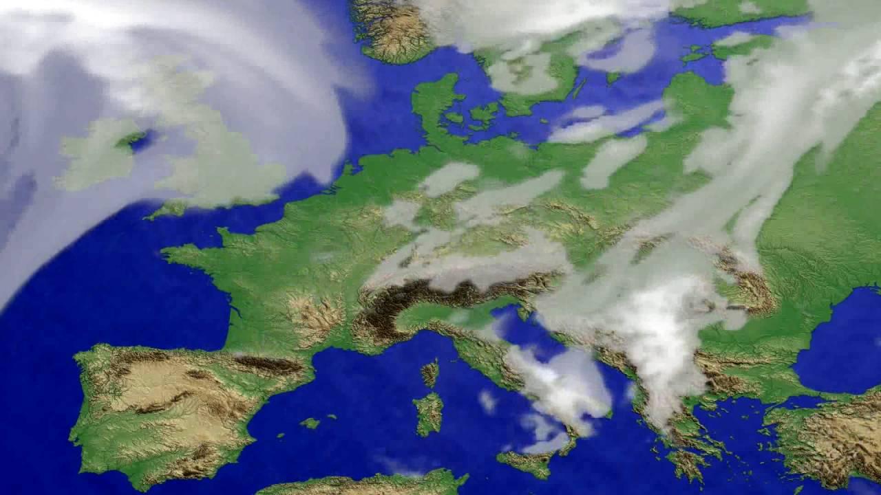 Cloud forecast Europe 2016-08-03