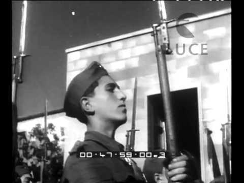 segretario del partito fascista in visita a galati mamertino e naso
