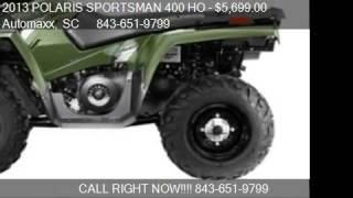 9. 2013 POLARIS SPORTSMAN 400 HO SOUTH EDITION - for sale in Mu