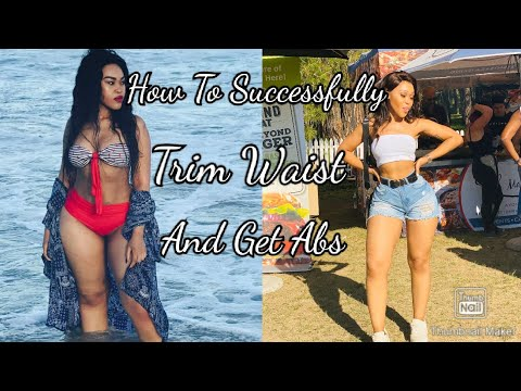 How to successfully achieve a trimmed waist and Achieve Abs.  Enhle Mbali Mathebula