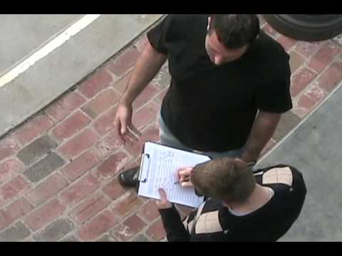 Amendment - Mark Dice asks random people to sign his petition that would repeal the First Amendment. Mark Dice is a media analyst, social critic, political activist, and...