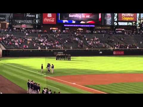Happy Jacks Singing National Anthem at Colorado Rockies Game