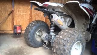 8. Yamaha raptor 80 FMF exhaust sound